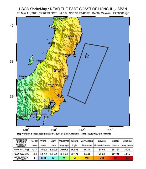 Mw Earthquake Hits Japan Causes Tsunami Updated - Japan earthquake map 2016